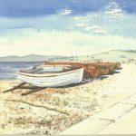 Boats on beach copyright