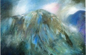 Cader Idris (Craig Cau) acrylic & enamel on canvas 104 x 150cm - Copy